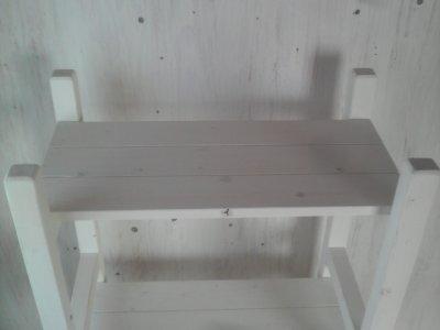 画像2: 無垢材で造る ナチュラルテイスト ラック 商品棚 【ミルキーホワイト】 セミオーダー品