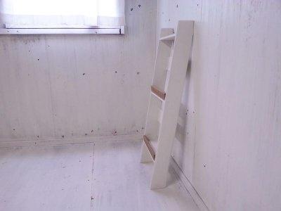 画像3: 無垢ヒノキで造る マガジンラック2段 小 【オスモオーク×ミルキーホワイト】 セミオーダー品