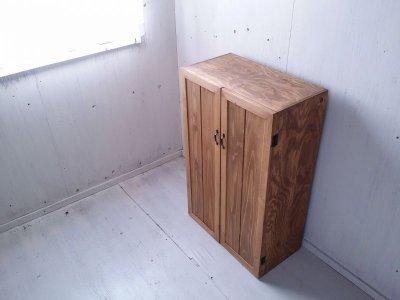 画像3: ナチュラルテイスト キャビネット 観音開きタイプ 扉付 収納棚 木の扉 【オスモオーク】 セミオーダー品