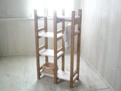 画像2: 無垢材で造る ナチュラルテイスト ラック&ハンガーラック