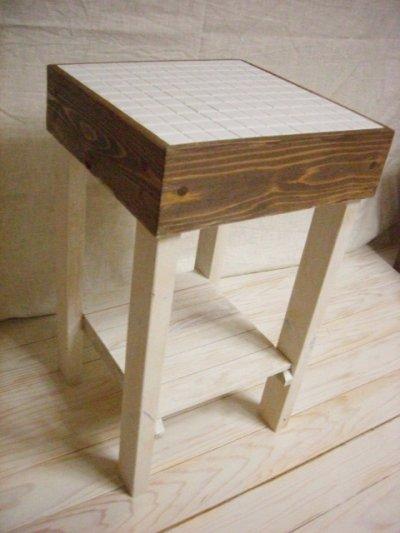 画像2: ナチュラルテイスト タイルトップ サイドテーブル