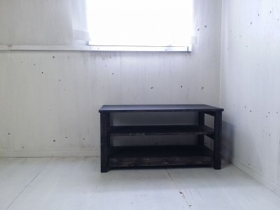 画像2: 無垢材のナチュラルテイスト テレビボード aタイプ 【オスモブラック】 セミオーダー品