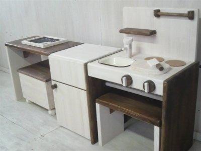 画像3: ままごとキッチン デスクタイプ