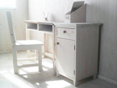 画像3: 無垢ヒノキで造る サイドキャビネット サイドデスク