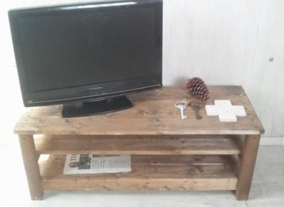 画像1: 無垢材のナチュラルテイスト TVボード aタイプ