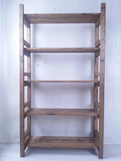 画像2: 無垢材で造る ナチュラルテイスト ラック 商品棚 h1650 w900 【ステインオーク】 セミオーダー品