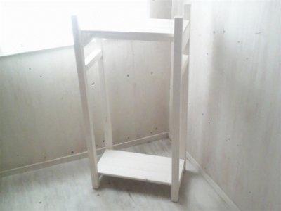画像2: 無垢材で造る ハンガーラック 【ミルキーホワイト】 セミオーダー品