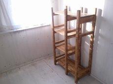 画像2: 無垢材で造る ナチュラルテイスト ラック&ハンガーラック 【オスモオーク】 セミオーダー品 (2)