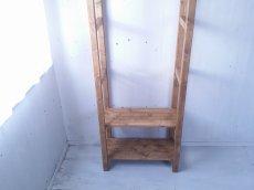 画像3: 無垢材で造る ナチュラルテイスト ハンガーラック h1800 w650 【オスモオーク】 棚付 セミオーダー品 (3)