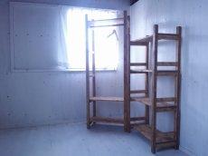 画像5: 無垢材で造る ナチュラルテイスト ラック 商品棚 h1450 w750 【オスモオーク】 セミオーダー品 (5)