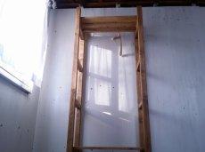 画像4: 無垢材で造る ナチュラルテイスト ハンガーラック h1800 w650 【オスモオーク】 棚付 セミオーダー品 (4)