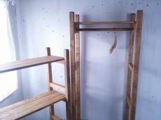 画像5: 無垢材で造る ナチュラルテイスト ハンガーラック h1800 w650 【オスモオーク】 棚付 セミオーダー品 (5)