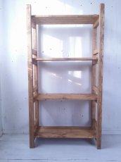 画像2: 無垢材で造る ナチュラルテイスト ラック 商品棚 h1450 w750 【オスモオーク】 セミオーダー品 (2)