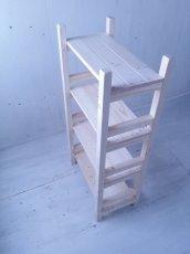 画像4: 無垢材で造る ナチュラルテイスト ラック 商品棚 【無塗装】 セミオーダー品 (4)