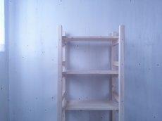 画像1: 無垢材で造る ナチュラルテイスト ラック 商品棚 【無塗装】 セミオーダー品 (1)
