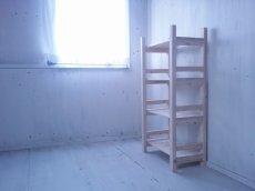 画像3: 無垢材で造る ナチュラルテイスト ラック 商品棚 【無塗装】 セミオーダー品 (3)