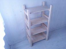 画像2: 無垢材で造る ナチュラルテイスト ラック 商品棚 【無塗装】 セミオーダー品 (2)