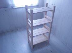 画像5: 無垢材で造る ナチュラルテイスト ラック 商品棚 【無塗装】 セミオーダー品 (5)