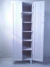 画像4: ナチュラルテイスト キャビネット 観音開きタイプ 扉付 収納棚 h1520 【ホワイト】 セミオーダー品 (4)