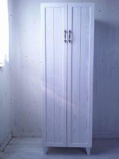 画像3: ナチュラルテイスト キャビネット 観音開きタイプ 扉付 収納棚 h1520 【ホワイト】 セミオーダー品 (3)