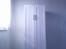 画像2: ナチュラルテイスト キャビネット 観音開きタイプ 扉付 収納棚 h1520 【ホワイト】 セミオーダー品 (2)