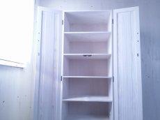 画像5: ナチュラルテイスト キャビネット 観音開きタイプ 扉付 収納棚 h1520 【ホワイト】 セミオーダー品 (5)