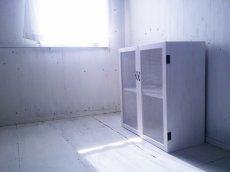 画像4: ナチュラルテイスト キャビネット 観音開きタイプ 扉付 収納棚 【ホワイト】 セミオーダー品 (4)