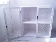 画像2: ナチュラルテイスト キャビネット 観音開きタイプ 扉付 収納棚 【ホワイト】 セミオーダー品 (2)