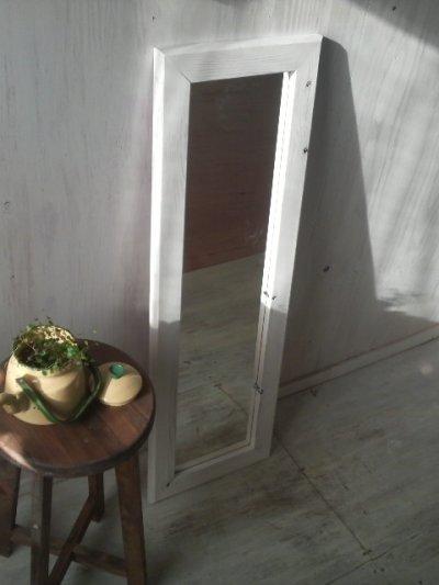 画像2: 無垢材で造る 姿見鏡 ミラー 床置き・壁掛け