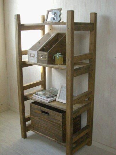 画像1: 無垢材で造る ナチュラルテイスト ラック 商品棚