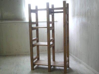 画像3: 無垢材で造る ナチュラルテイスト ラック&ハンガーラック 【オスモオーク】 セミオーダー品