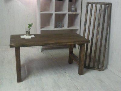 画像2: 無垢ヒノキで造る 棚付 ローテーブル・コーヒーテーブル