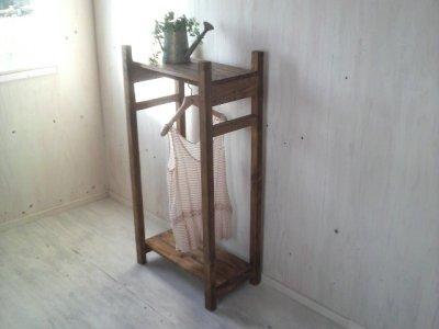 画像1: 無垢材で造る ナチュラルテイスト ハンガーラック