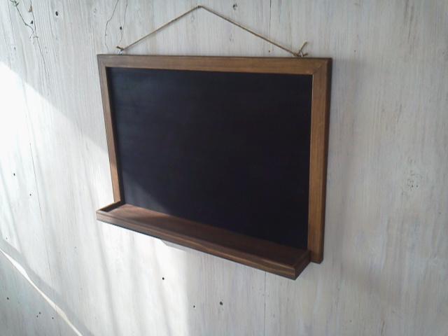 画像1: 壁掛け用 スクール風黒板 【オスモウォルナット】 セミオーダー品 (1)