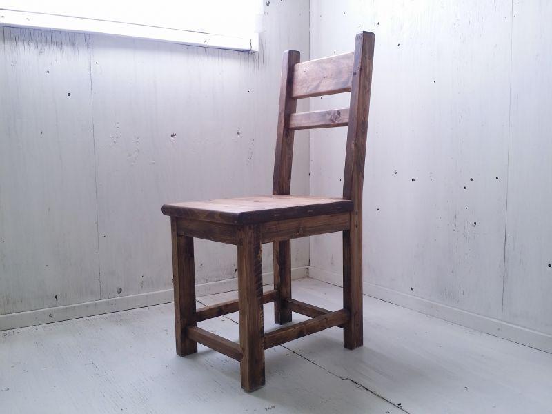 画像1: 無垢ヒノキで造る チェア 椅子 イス 【オスモウォルナット】 セミオーダー品 (1)