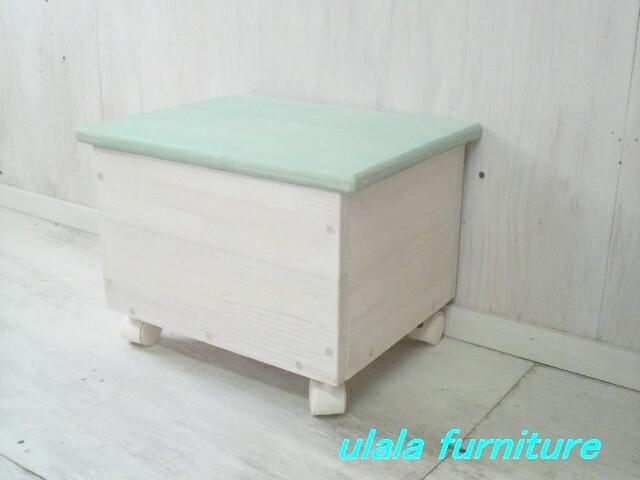 画像1: キッズ おもちゃ入れボックス キャスター付   (1)