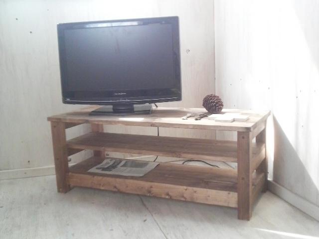 画像1: 無垢材のナチュラルテイスト TVボード aタイプ (1)