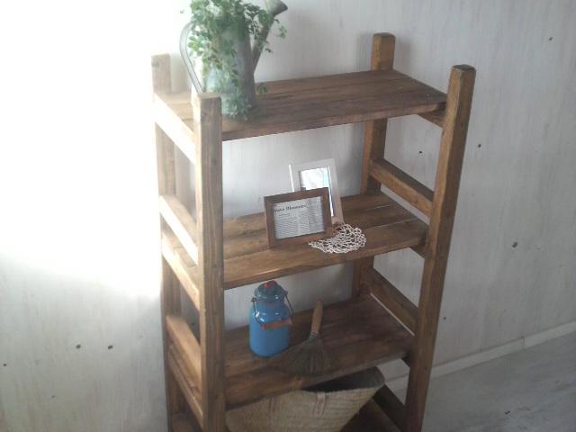 画像1: 無垢材で造る ナチュラルテイスト ラック 商品棚  (1)