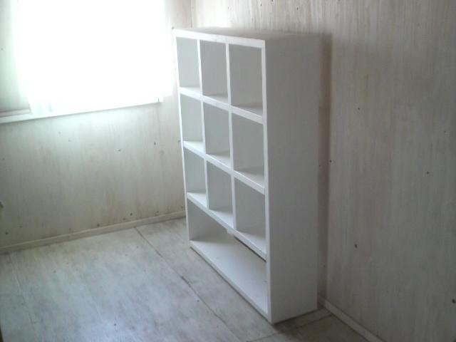 画像1: 無垢杉で造る マスキャビネット オープンタイプ 【ホワイト】 セミオーダー品 (1)