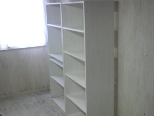 画像1: 本棚・ライティングデスク 【ホワイト】 フルオーダー品  (1)